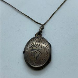 Antique Sterling Locket and Chain